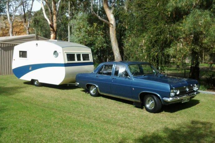 vintage caravan rowvan 1950s