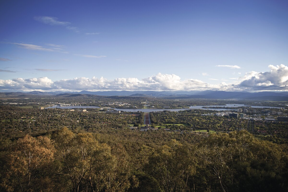 Canberra views from Mount Ainslie lookout