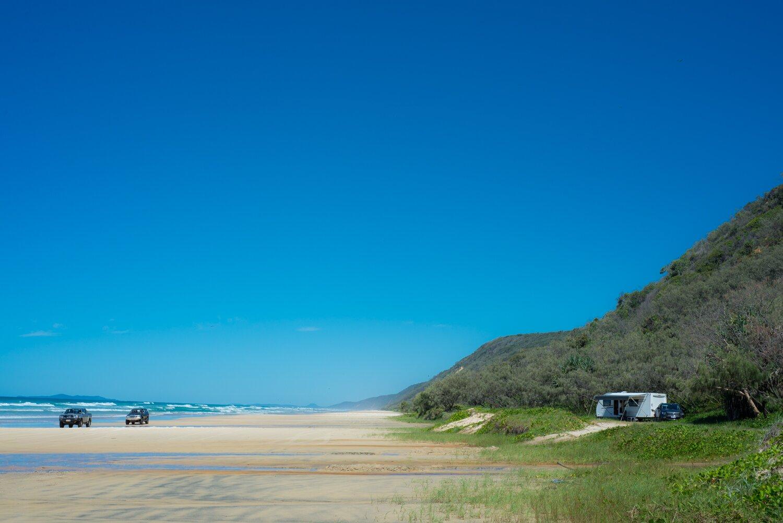 Camping teewah beach caravan