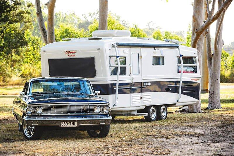 vintage olympic caravan