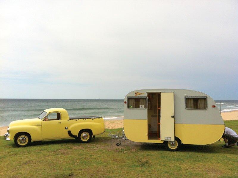 1950s bondwood caravan
