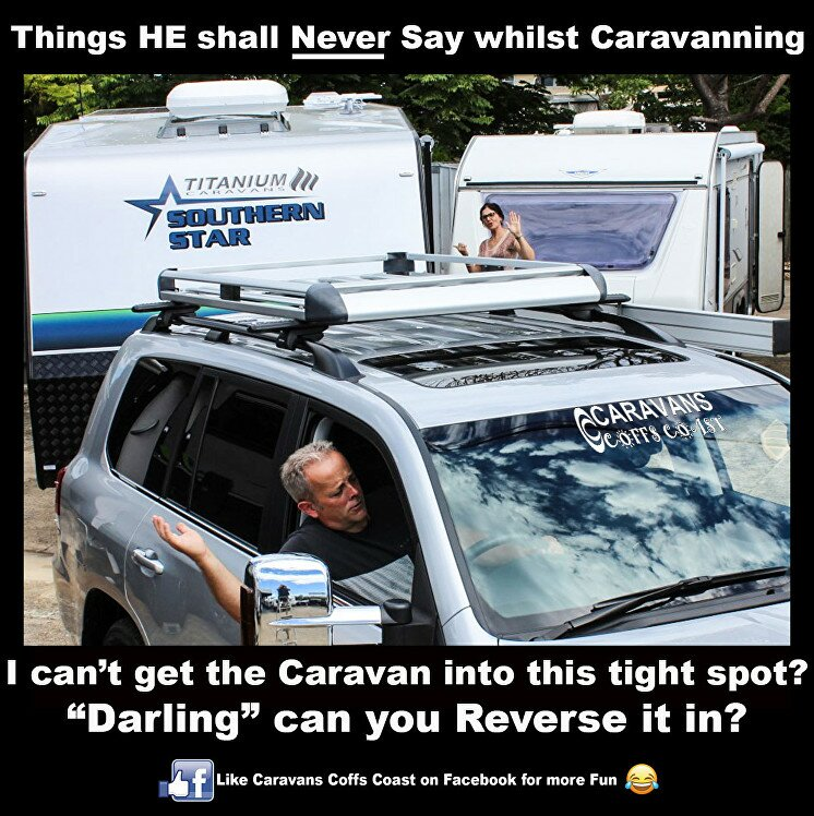 reversing caravan how to