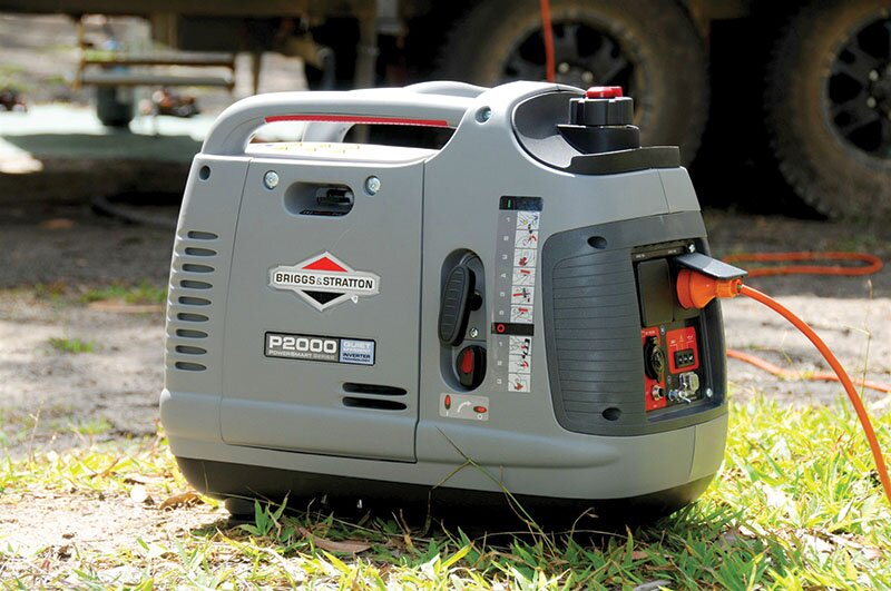 using a generator at camp