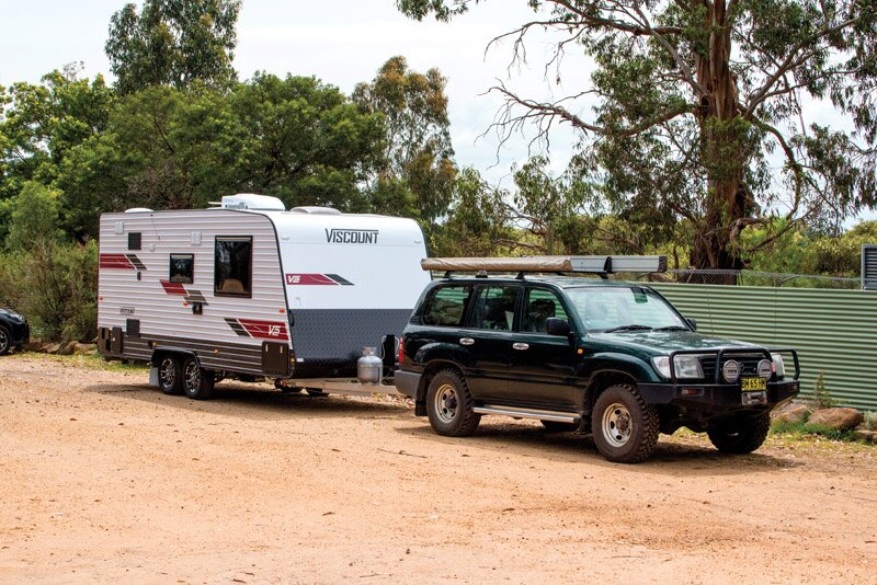 viscount caravan towing review