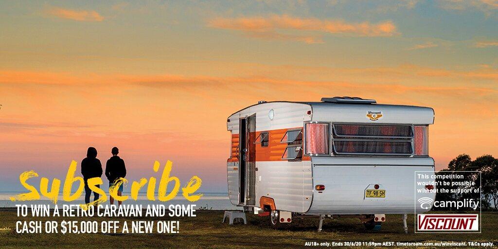 win a vintage caravan