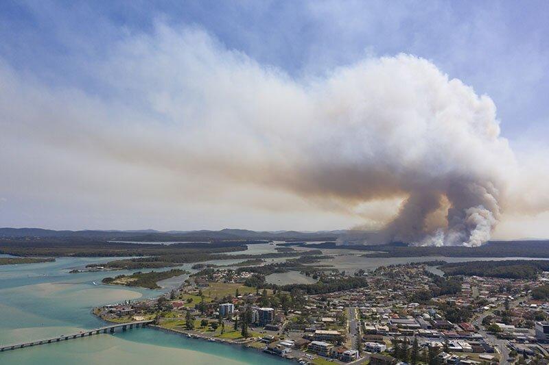 bushfire travel australia