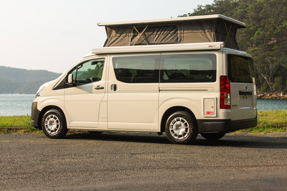 new toyota hiace campervans